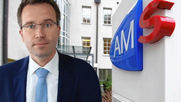 AMS-Chef Johannes Kopf (Bild: Peter Tomschi, Neumayr/MMV, krone.at-Grafik)