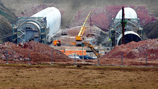 1300 Arbeiter sind am Bau der Koralmbahn beschäftigt.