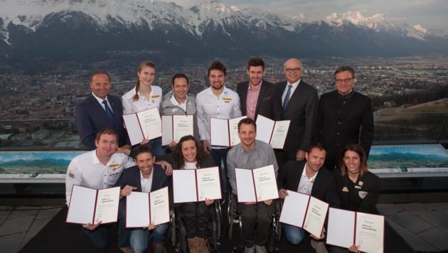 Ehrung der Olympia-Teilnehmer aus Tirol durch das Land Tirol.