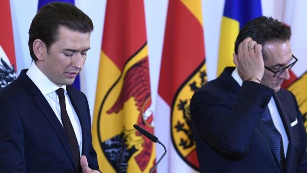 Bundeskanzler Sebastian Kurz, Vizekanzler Heinz-Christian Strache (Bild: APA/ROBERT JAEGER)