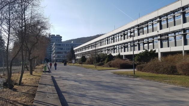 Ein Frühlingstag am Campus der Linzer Johannes-Kepler-Universität (JKU) (Bild: Werner Pöchinger)