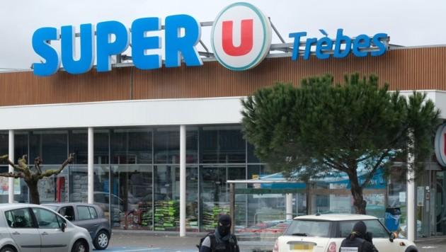 In diesem Supermarkt hatte der amtsbekannte Franzose Redouane Lakdim (26) drei Geiseln getötet.