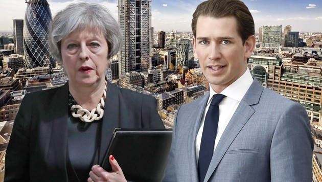 Kurz trifft May in London zu Brexit-Verhandlungen