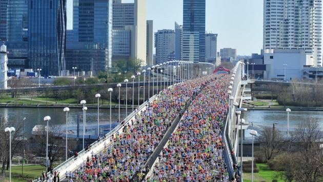 Rund 40.000 Läufer gehen üblicherweise beim Wien-Marathon an den Start. (Bild: VCM FinisherPix)