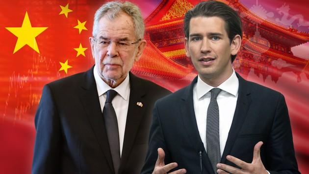 Alexander Van der Bellen und Sebastian Kurz (Bild: AFP/ALBERTO PIZZOLI, AP/Ronald Zak, stock.adobe.com, krone.at-Grafik)