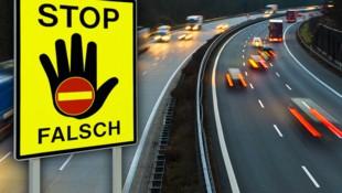 Bei Wels-West kam es zum Geisterfahrerunfall. (Bild: stock.adobe.com, krone.at-Grafik)