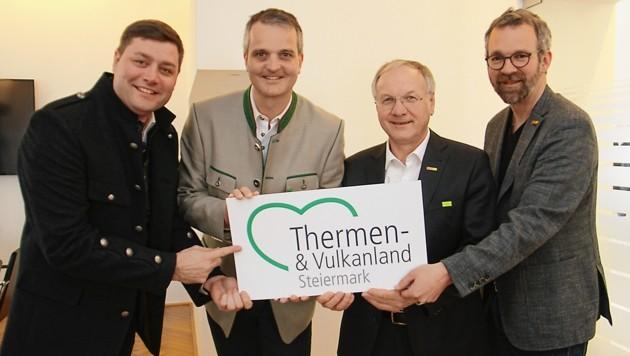 Aufbruchstimmung: Mario Gruber, Gernot Deutsch, Josef Ober und Michael Fend (v. li.) (Bild: Jauschowetz Christian)
