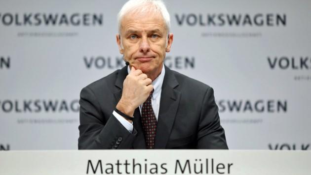 Volkswagen-Konzernchef Matthias Müller (Bild: APA/dpa/Jörg Carstensen)