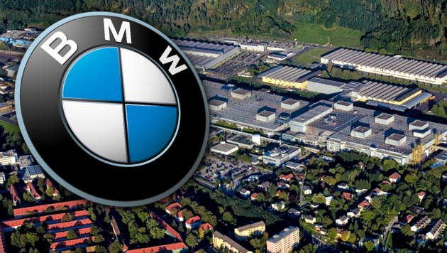 Das BMW-Werk in Steyr (Bild: BMW, krone.at-Grafik)