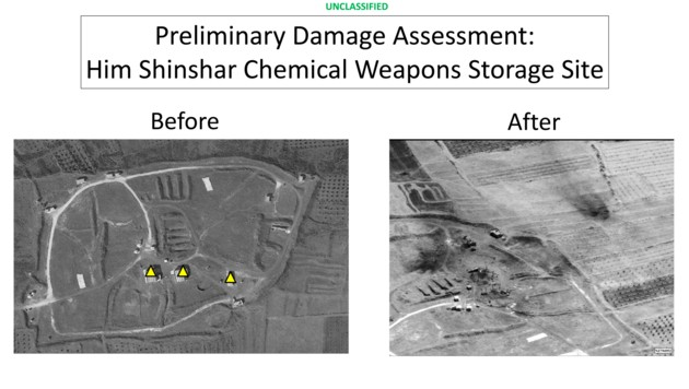 In der Lagerstätte bei Shin lagerte US-Berichten zufolge der chemische Kampfstoff Sarin. Auch geforscht wurde in dem Depot.