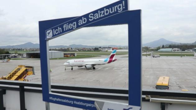 Salzburg Airport, Flughafen, Urlaubsziele. (Bild: Max Grill)