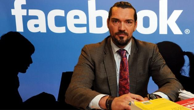 Anwalt Hubert Niedermayr aus Steyr klagt nun Facebook. (Bild: Wenzel, APA/dpa/Armin Weigel)