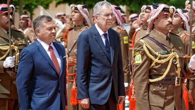 Jordaniens König Abdullah II. (links) mit Bundespräsident Alexander Van der Bellen (Bild: Peter Lechner/HBF)