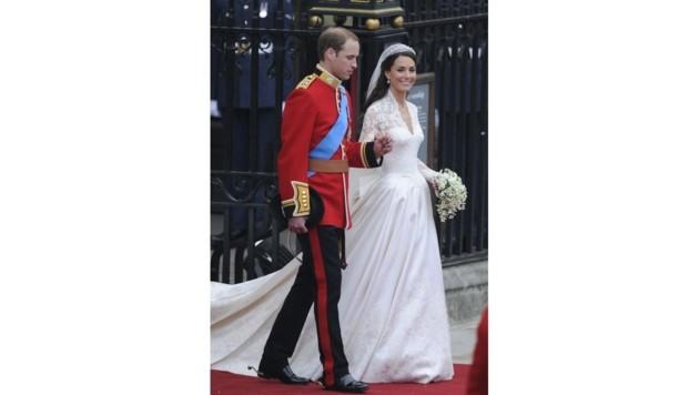 Prinz William und Herzogin Kate heiraten am 29. April 2011. (Bild: AFP)