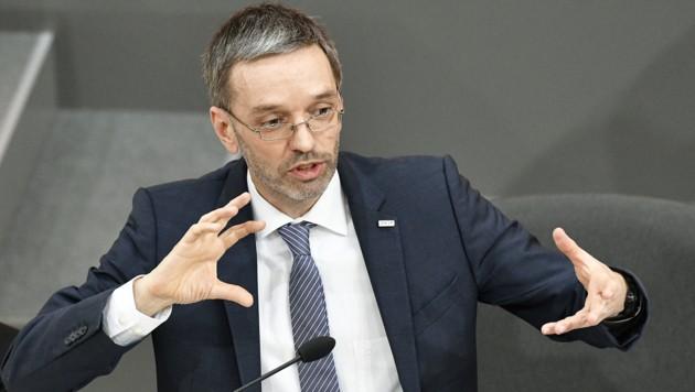 Innenminister Herbert Kickl (FPÖ) (Bild: APA/HANS PUNZ)