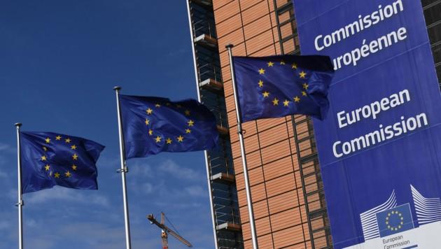 Der Sitz der EU-Kommission in Brüssel (Bild: APA/AFP/Emmanuel Dunand)