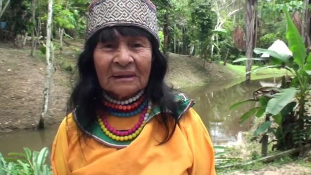 Die peruanische Schamanin Olivia Arevalo (Bild: twitter.com)