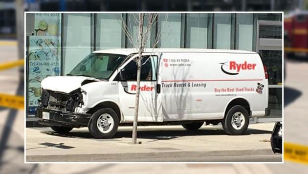 Das soll der Leihwagen sein, mit dem mehrere Menschen verletzt wurden. (Bild: www.twitter.com/krone.at-Grafik)