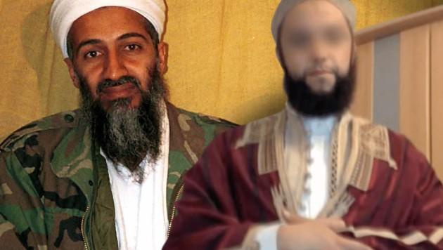 Sami A. (re.) gehörte früher bei Al-Kaida der persönlichen Leibgarde Bin Ladens an. (Bild: AP, youtube.com, krone.at-Grafik)