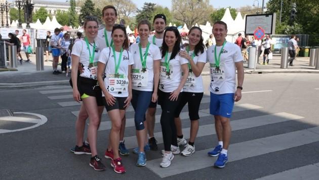 Geschafft! Die zwei Staffeln nach dem Vienna City Marathon. (Bild: Zwefo)