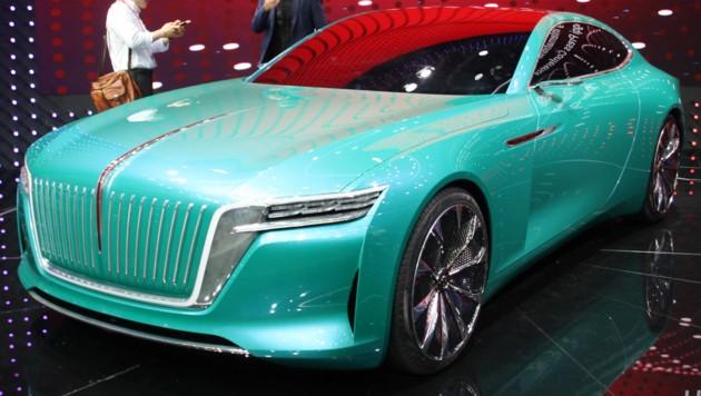 Chinas Autohersteller trauen sich was. Hier etwa Honqi mit der Coupé-Studie. (Bild: Mario Hommen/SP-X)