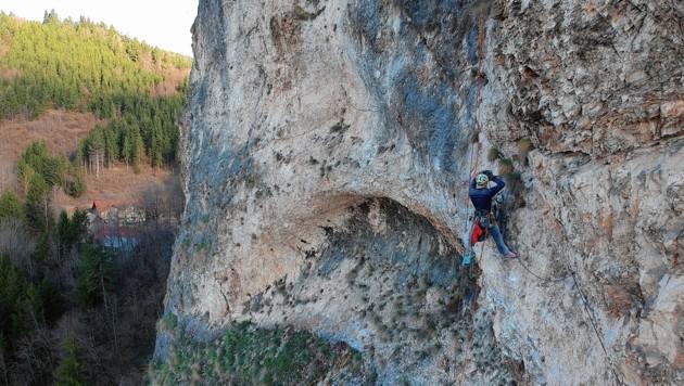 Klettersteig Griffen : Neuer klettersteig auf den schlossberg krone at