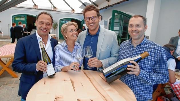 Markus Molitor, Sabine und Raimund Döllerer, Davis Weszeli (Bild: Markus Tschepp)
