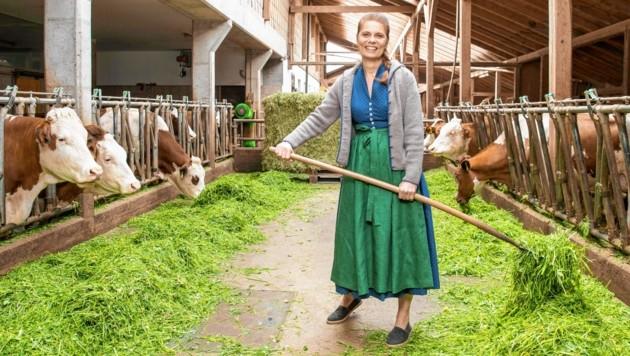"""Starköchin Sarah Wiener diskutierte am Mittwoch im Kuhstall über das aktuelle Konsumverhalten. Ihr Lieblingsgericht: """"Ich habe nicht nur ein einziges, das ist eine Frage der Jahreszeit."""" (Bild: www.neumayr.cc)"""