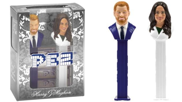 Prinz Harry und Meghan Markle werden als PEZ-Spender werden für einen guten Zweck auf eBay versteigert. (Bild: APA/PEZ INTERNATIONAL GMBH)