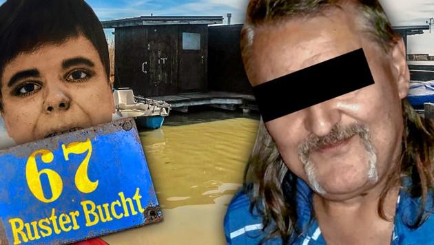 Alfred U. soll die Prostituierte in Wien aufgelöst und schließlich zerstückelt im Neusiedler See versenkt haben. (Bild: Martina Prewein, Christian Schulter, Polizei, krone.at-Grafik)
