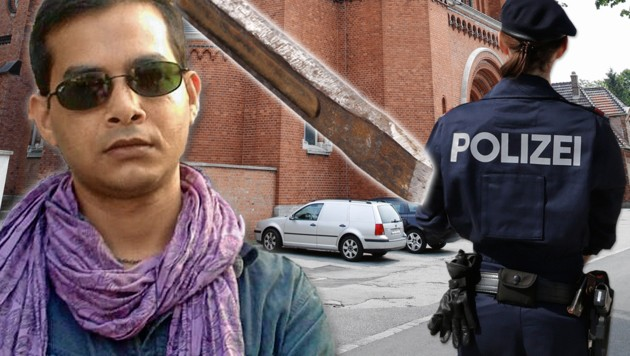 Mordopfer Razib D. (26) traf im Missionshaus in Maria Enzersdorf auf den Täter mit dem Meißel. (Bild: Russell R., Klemens Groh, Martin Jöchl. stock.adobe.com, krone.at-Grafik)