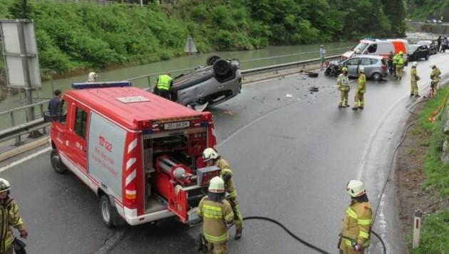 Verkehrsunfall auf der B311 (Bild: FF Schwarzach)