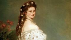 Kaiserin Elisabeth mit den berühmten Haarsternen aus Diamanten und Perlen auf einem Gemälde von Franz Xaver Winterhalter. (Bild: APA/Bernhaut/DPA)