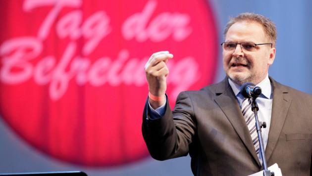 Willi Mernyi, Bundesgeschäftsführer der FSG und Vorsitzender des Mauthausen-Komitees (Bild: APA/Georg Hochmuth)