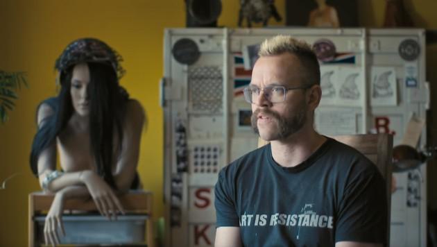 Der Wiener Künstler und Grafiker Andreas Joska (Bild: youtube.com/Andreas Joska)