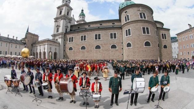 Feierlichkeiten anlässlich 80 Jahre Postmusik Salzburg (Bild: VOGL-PERSPEKTIVE.AT)