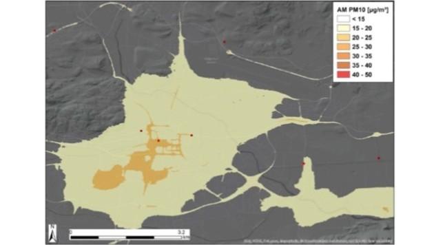 Feinstaubemissionen im Jahr 2025 (Bild: StadtPresse)