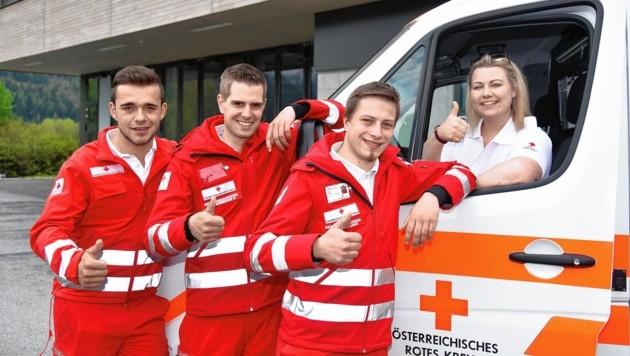 Florian, Daniel, Lukas und Lena suchen neue Kollegen (Bild: ROLAND HOLITZKY)