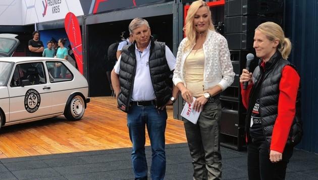 Eröffnung: GTI-Bürgermeister Markus Perdacher mit Miriam Höller und Sandra Waidelich.