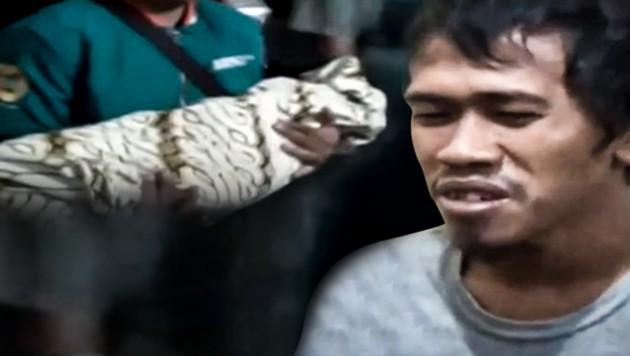 Der Vater hat gestanden, seinen Sohn zu Tode gebissen zu haben. (Bild: AsiaWire, krone.at-grafik)