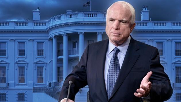 John McCain (Bild: AFP/BRENDAN SMIALOWSKI, stock.adobe.com, krone.at-Grafik)