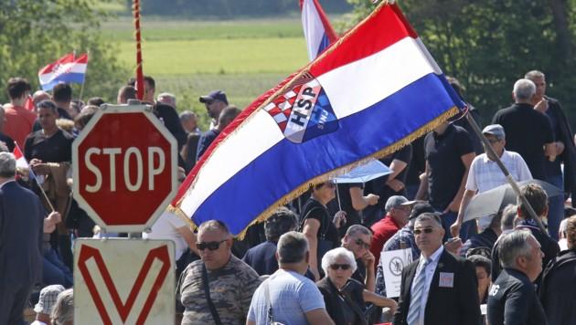 Dutzende Besucher waren in den Vorjahren zu den Gedenkfeiern gekommen. (Bild: APA/GERT EGGENBERGER)