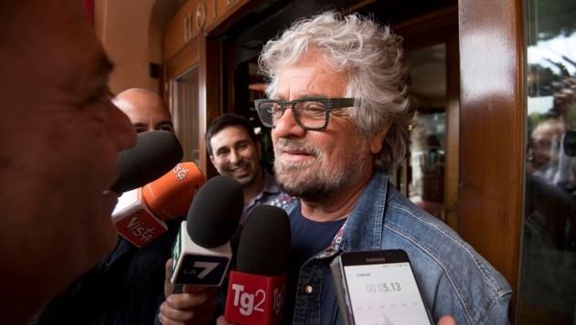 Beppe Grillo, Gründer der EU-kritischen Fünf-Sterne-Bewegung (Bild: ANSA)