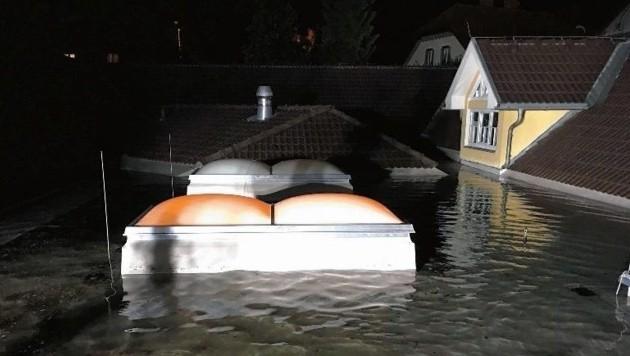 Die Feuerwehr Wolfsberg wurde gemeinsam mit der Feuerwehr St. Michael um zum Hochwassereinsatz im Stadtgebiet alarmiert. (Bild: FF Wolfsberg)