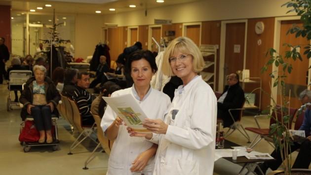 Heidemarie Feilmayr (r.) leitete die Schmerzambulanz am Neuromed Campus in Linz. (Bild: Kronen Zeitung)