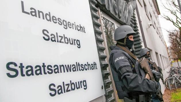 Höchste Sicherheitsstufe im Landesgericht Salzburg (Bild: Rohrer/Wildbild)