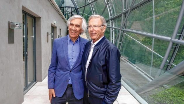 Architekt Volkmar Burgstaller und Eigentümer Hans-Peter Wild (Bild: Markus Tschepp)