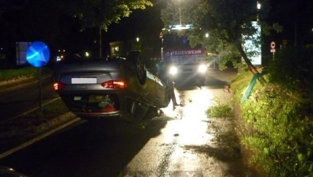 Unfall in bergheim (Bild: FF Bergheim)
