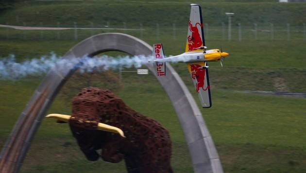 Spektakuläres Bild von der Air-Race-Veranstaltung in Spielberg 2016 (Bild: GEPA)