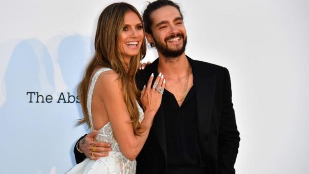 Heidi Klum und Tom Kaulitz turteln in Cannes (Bild: AFP )